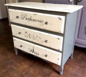 Commode 3 tiroirs parfumerie paris 1