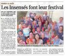 Festival les insense s le journal de gien